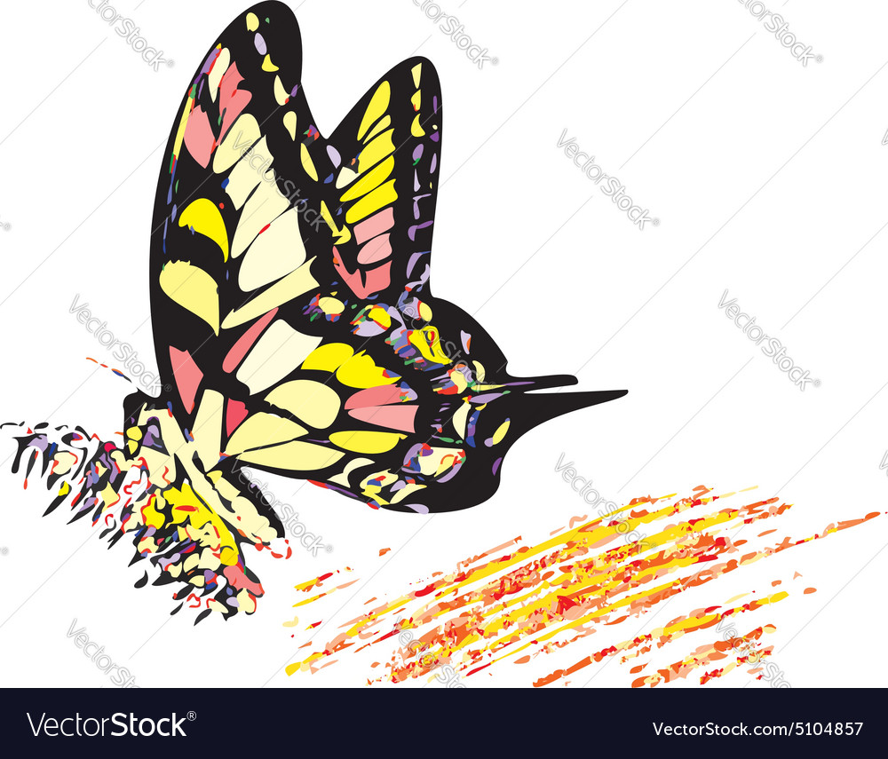 Colorful hippy butterfly