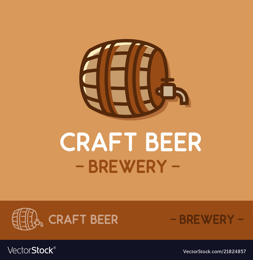 Craft Beer Logo Design In Web Site Layout Template