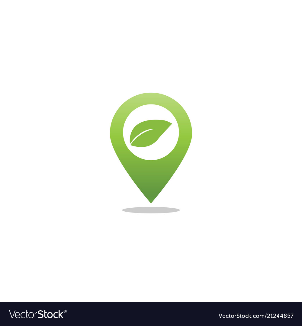 pin map leaf agriculture logo design template vector image