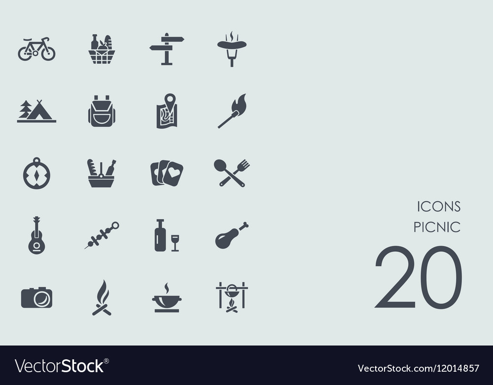 Set of picnic icons