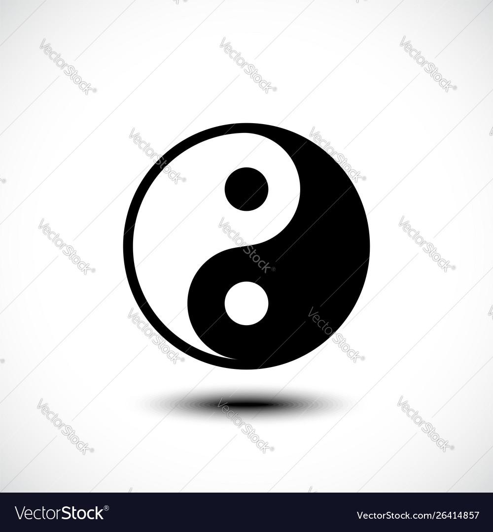 Ying yang symbol harmony and balance on white