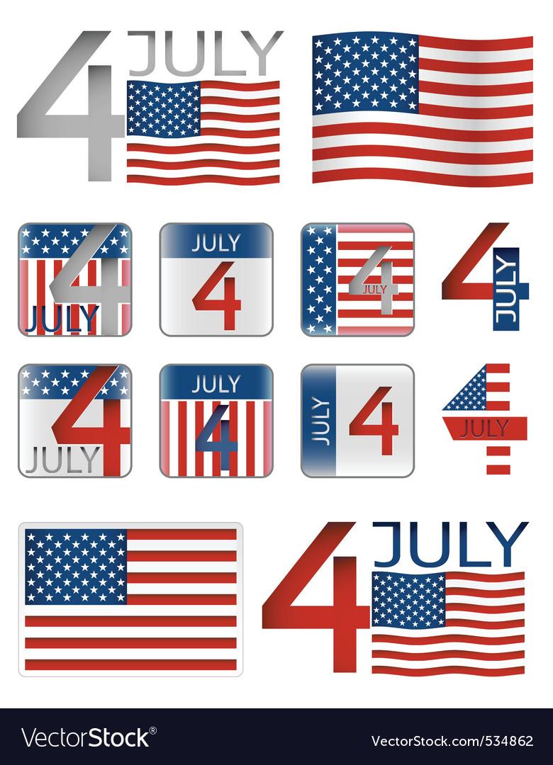 4 july vector image