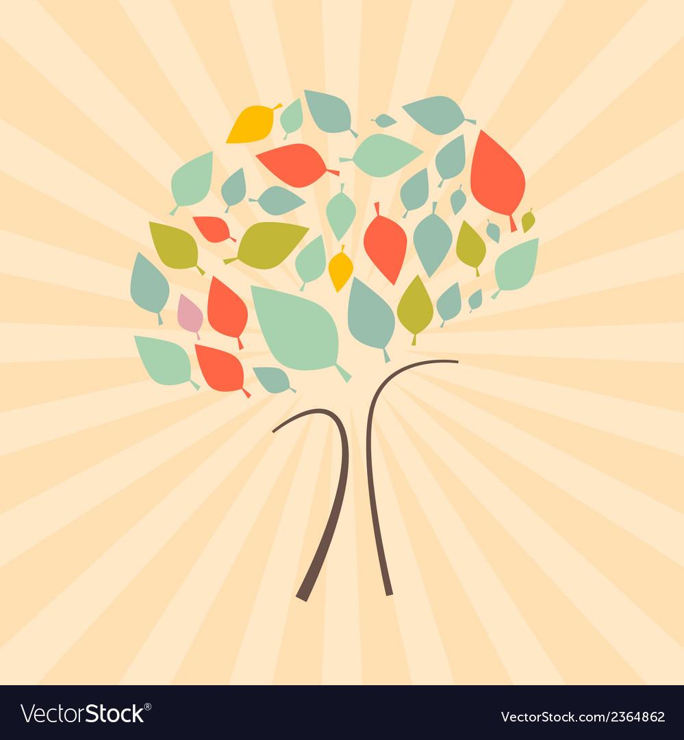 Abstract Retro Tree vector image