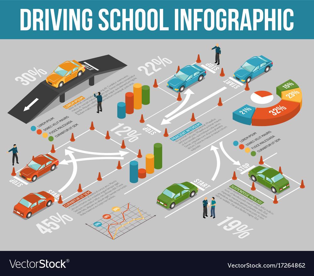 Driving school infographics
