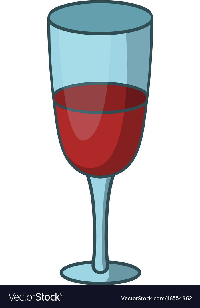red wine glass icon cartoon style royalty free vector image rh vectorstock com cartoon wine glass clip art cartoon wine glass png