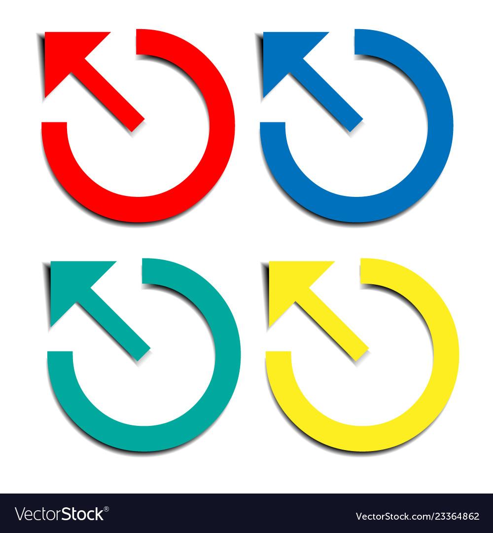 Round motion arrow symbols