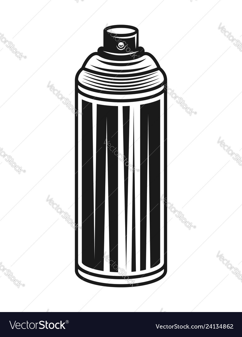 Spray paint can black