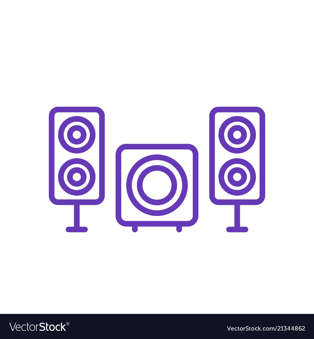 Subwoofer and speakers icon