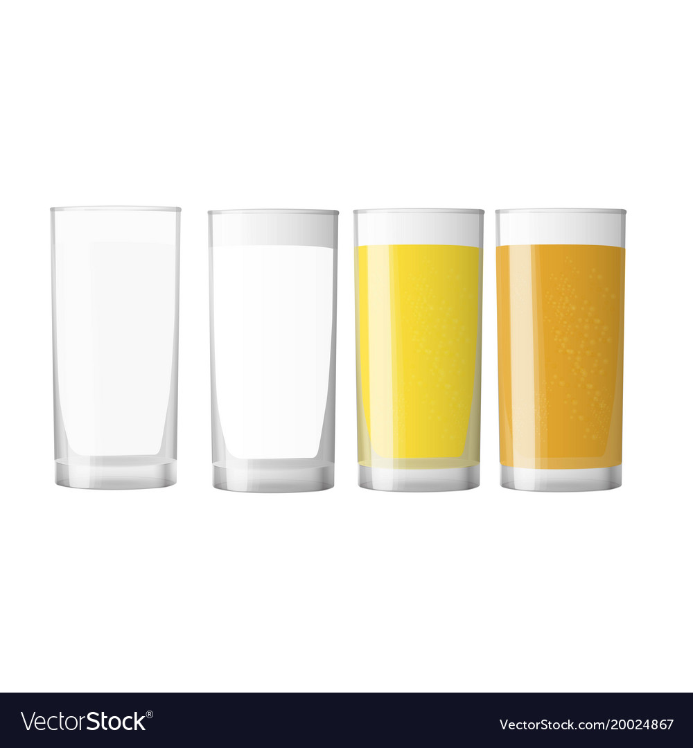 Big set of realistic white and colored cups blank vector image