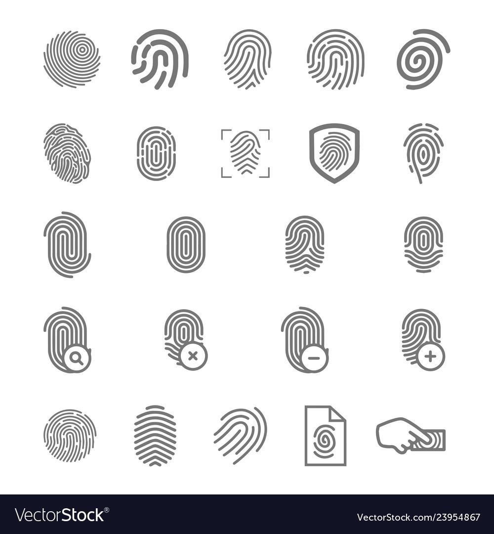 Concept of fingerprint logo