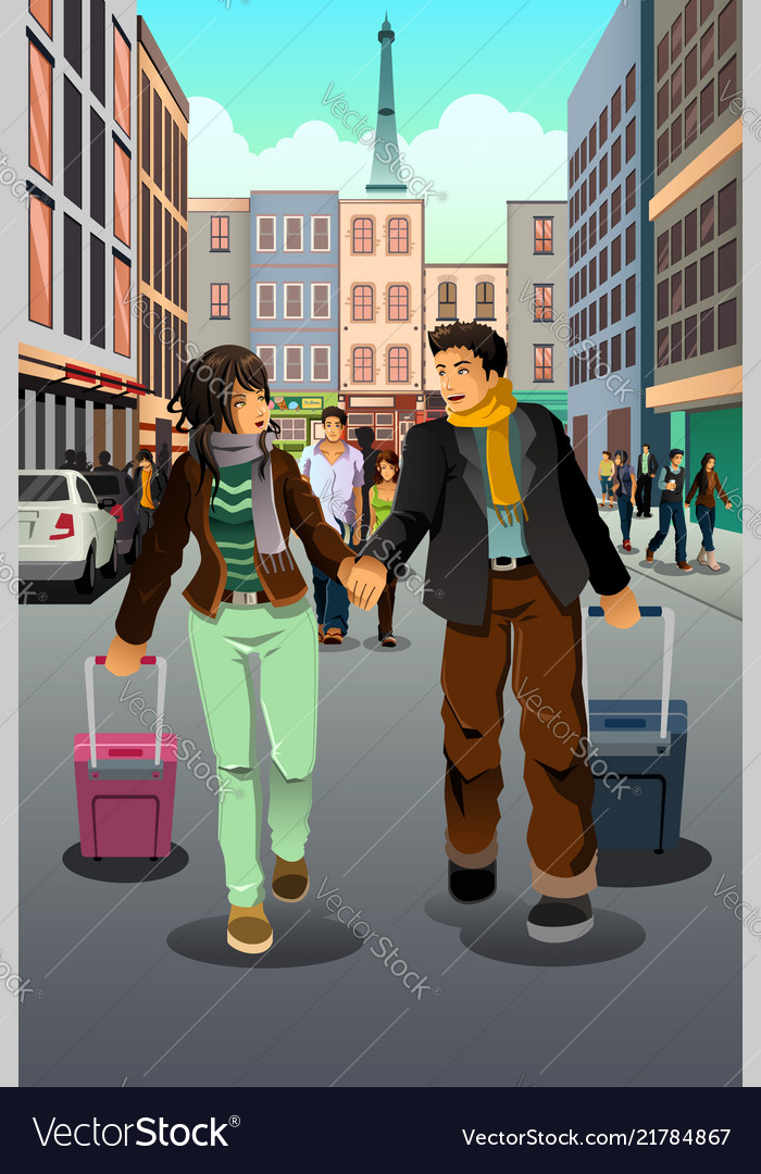 Couple traveling together
