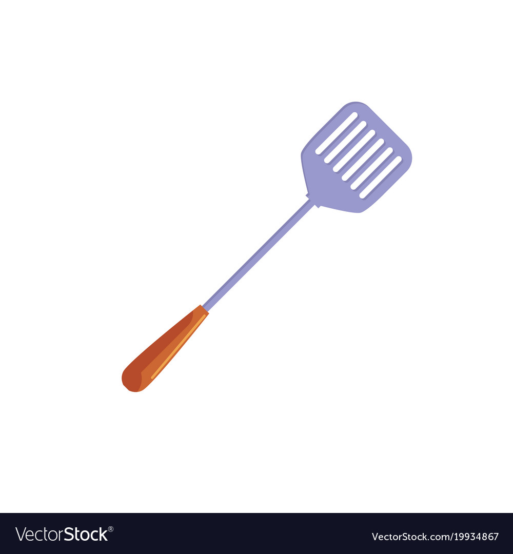 Flat kitchen paddle spatula icon vector image