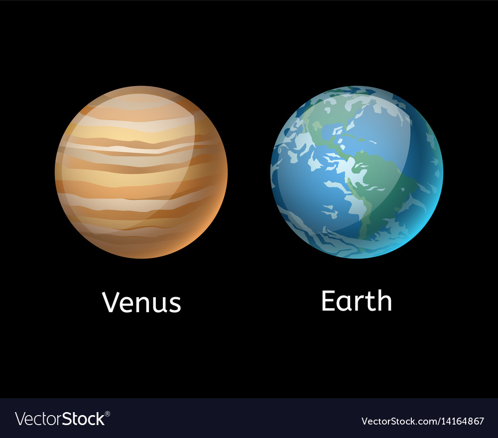 high quality venus system planet galaxy astronomy vector image