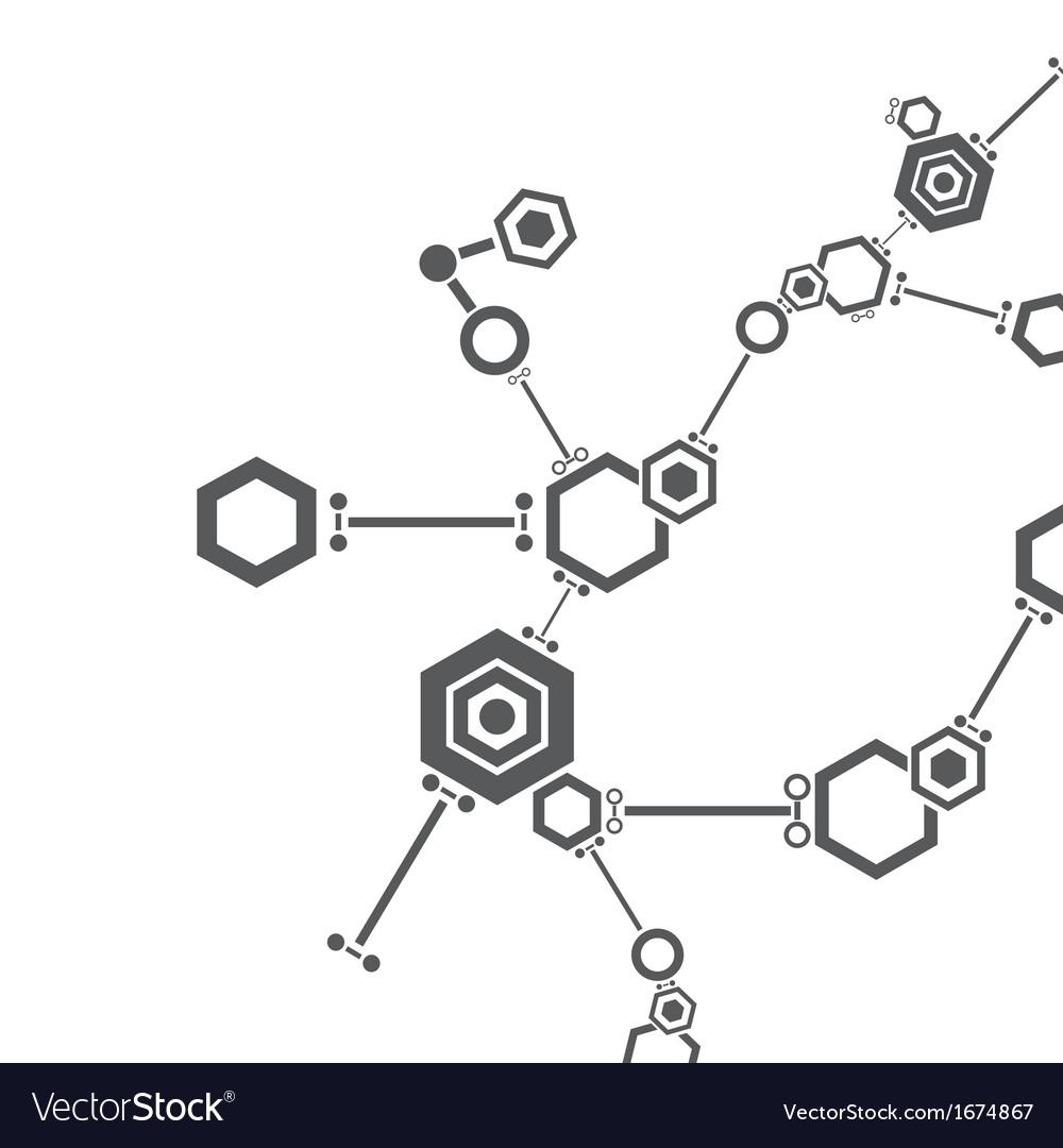 molecular structure royalty free vector image vectorstock