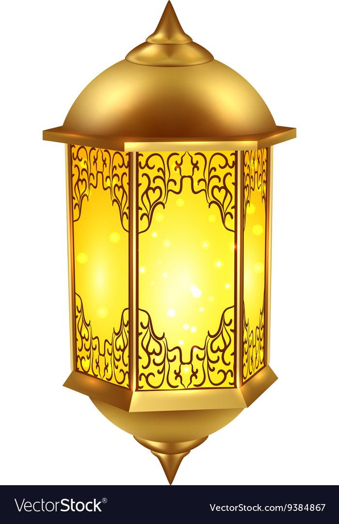 realistic ramadan lamp icon royalty free vector image vectorstock