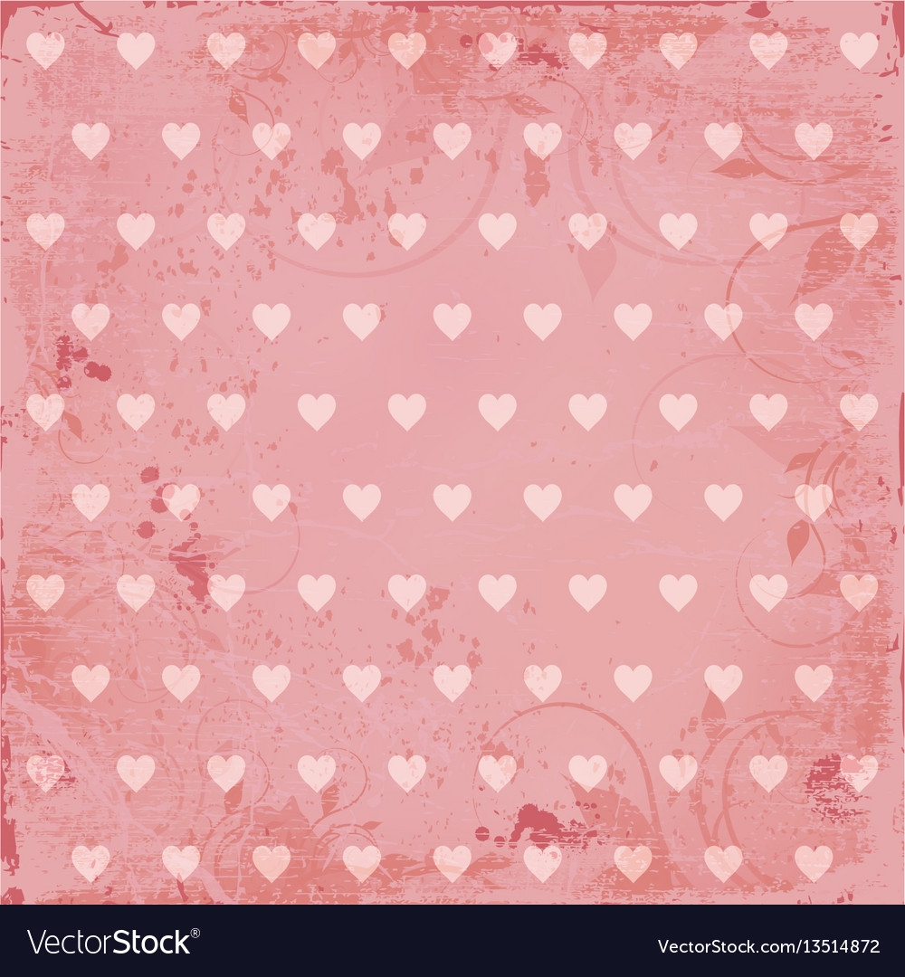 Beautiful pink vintage background vector image
