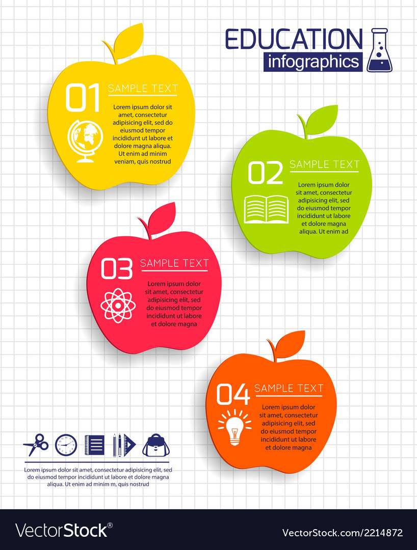 education apple infographic royalty free vector image