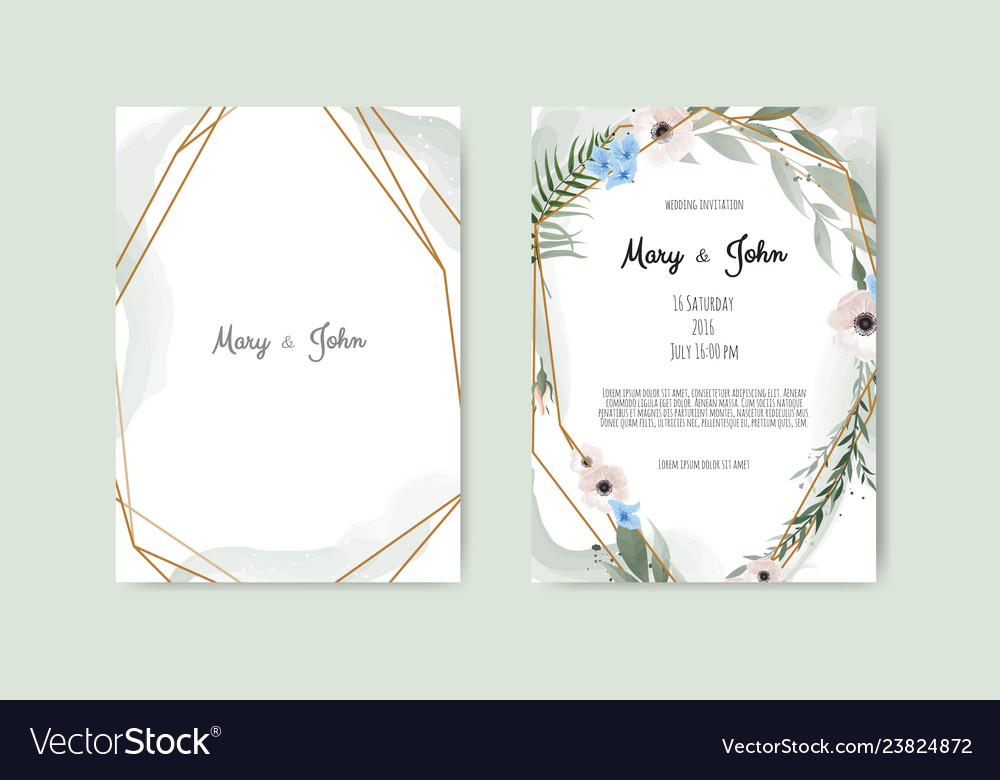 Floral botanical card design with leaves