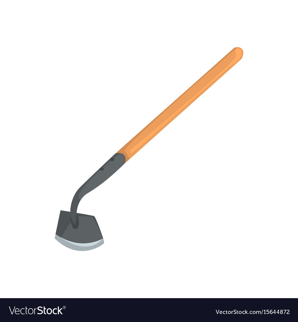 garden hoe agriculture tool cartoon royalty free vector