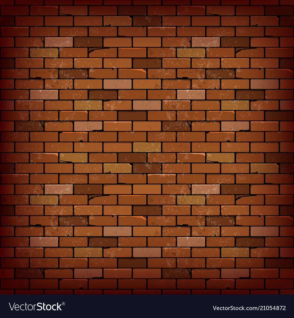 Red Brick Wall Background Royalty Free Vector Image