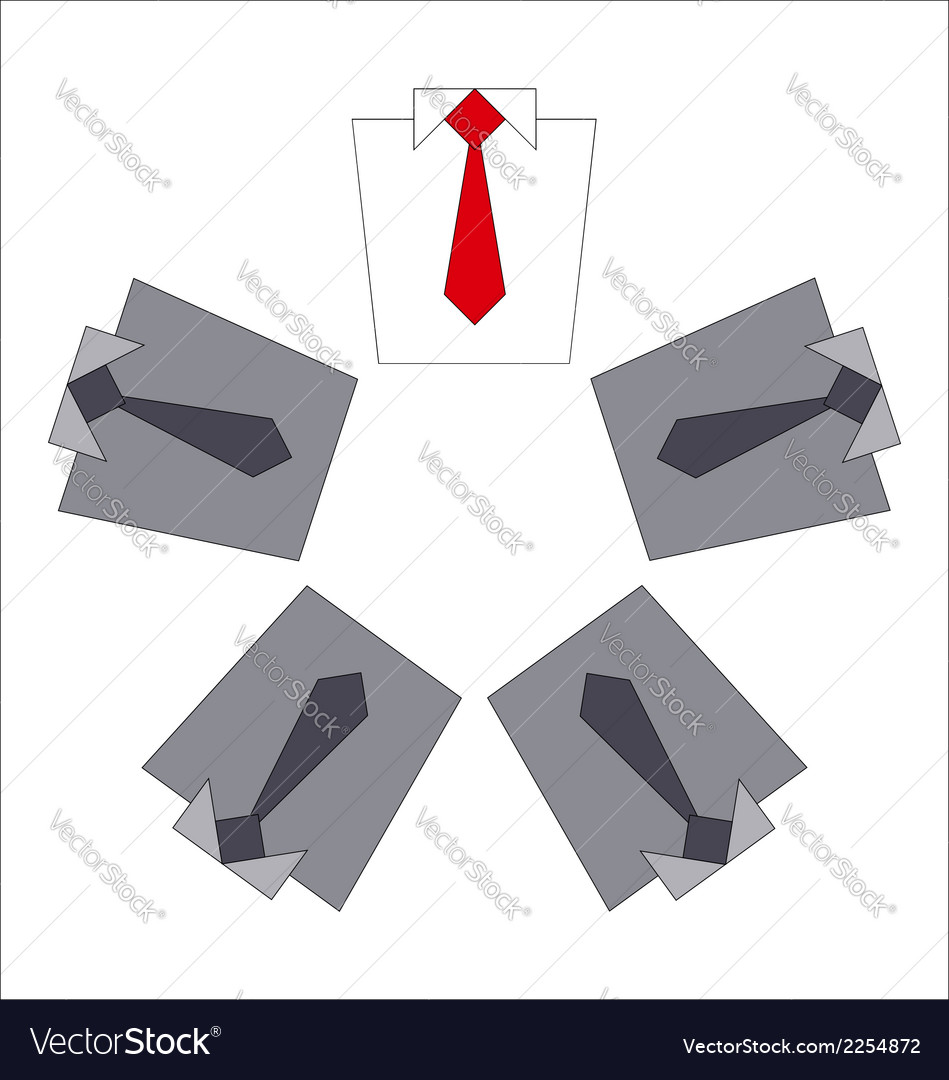 White collar and his business team vector image