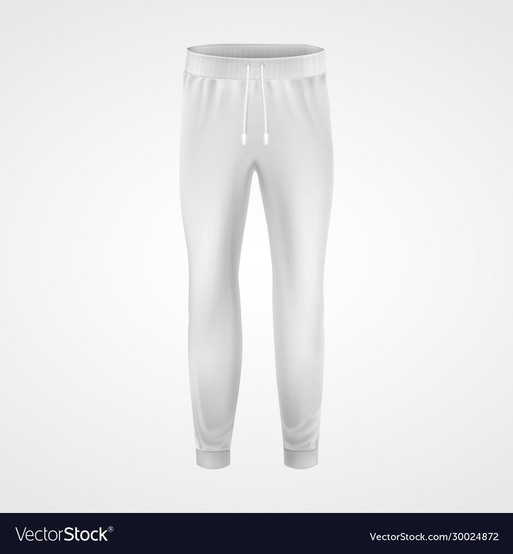 White jogging pants joggers sportswear realistic