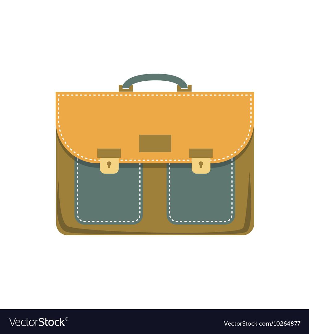 Briefcase cartoon colorful