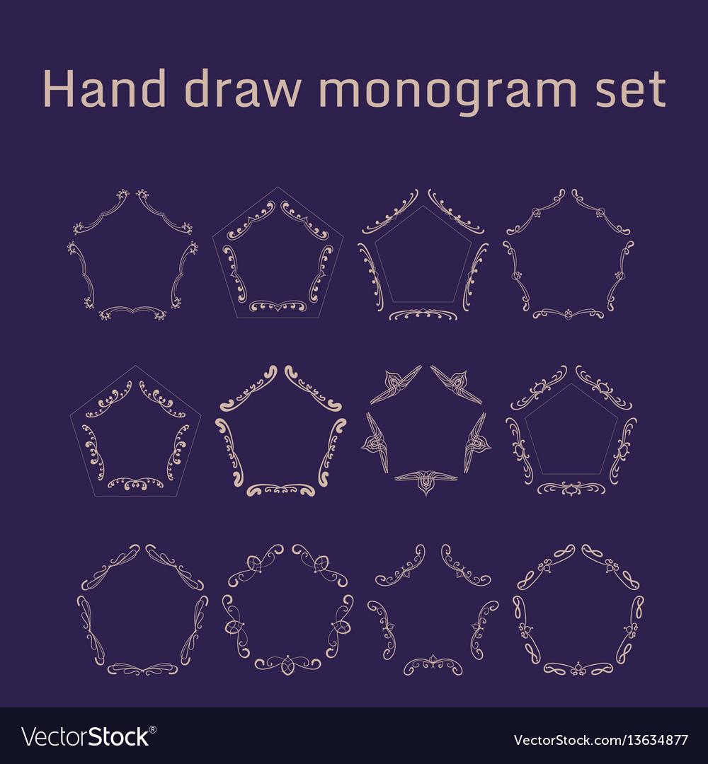 Bunch of simple and elegant monogram design