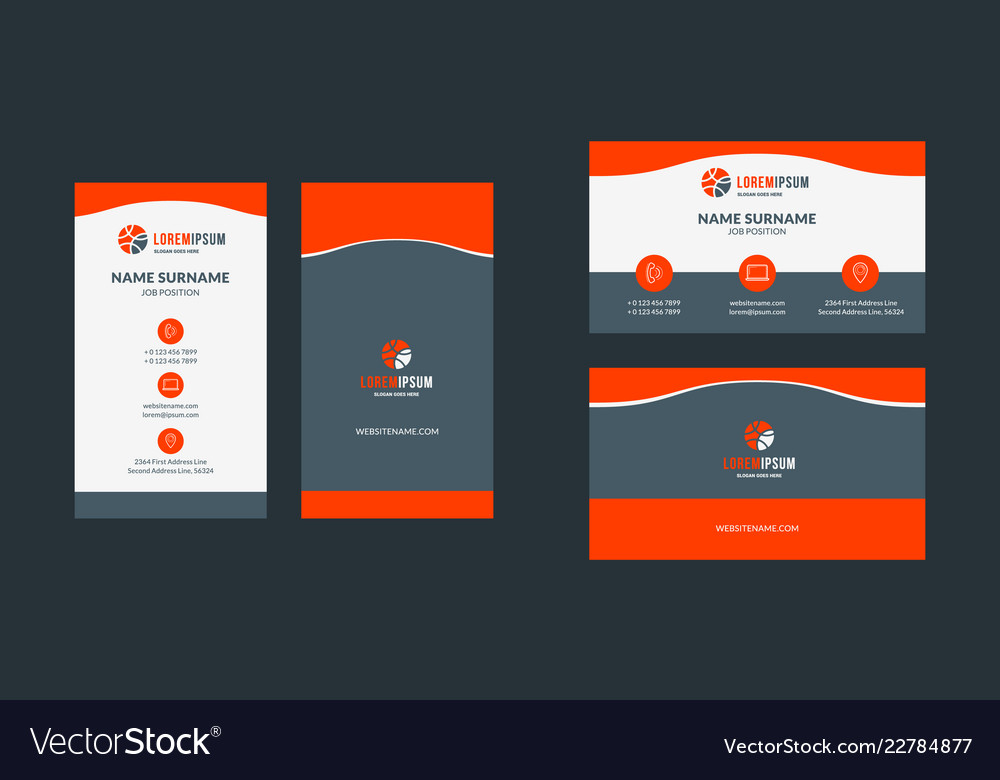 Double Sided Creative Business Card Template Vector Image