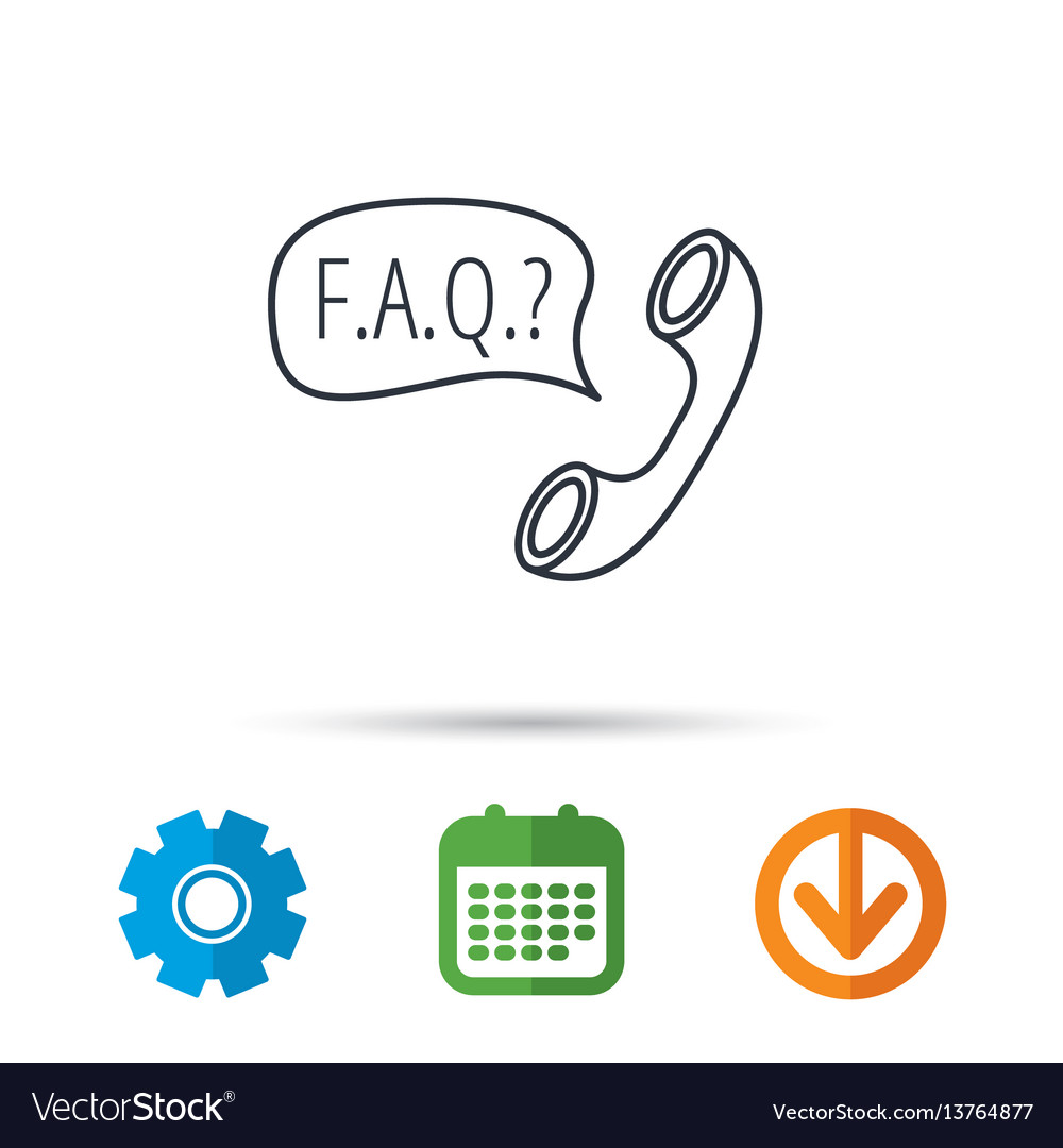 Faq service icon support speech bubble sign