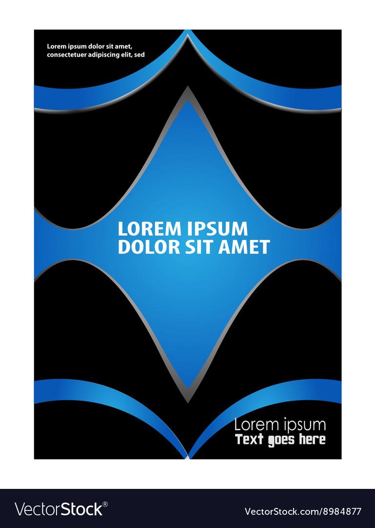 Flyer booklet template design catalog brochure fol