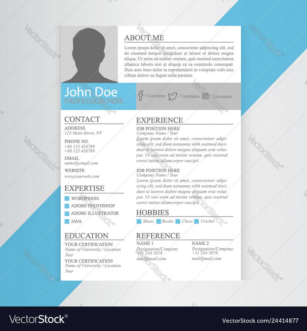 Print modern cv resume template design