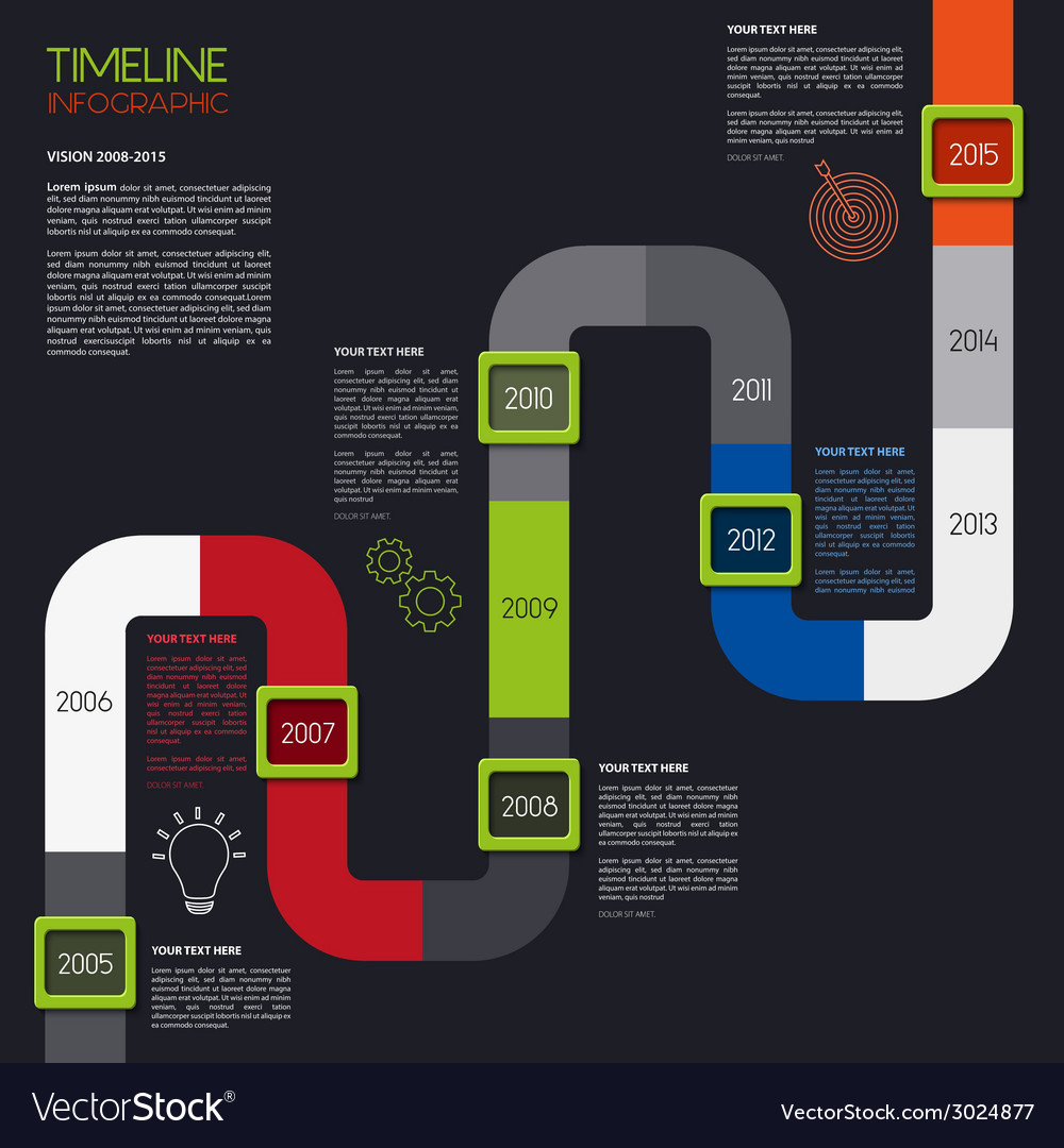 timeline infographic modern simple design vector image