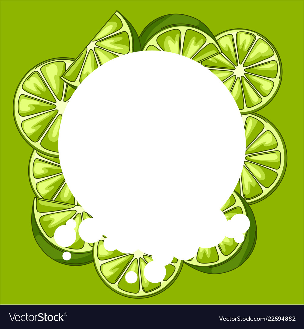 Background with limes