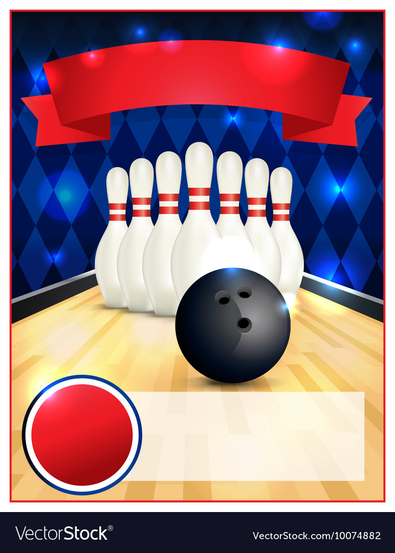 Bowling Alley Blank Template Flyer
