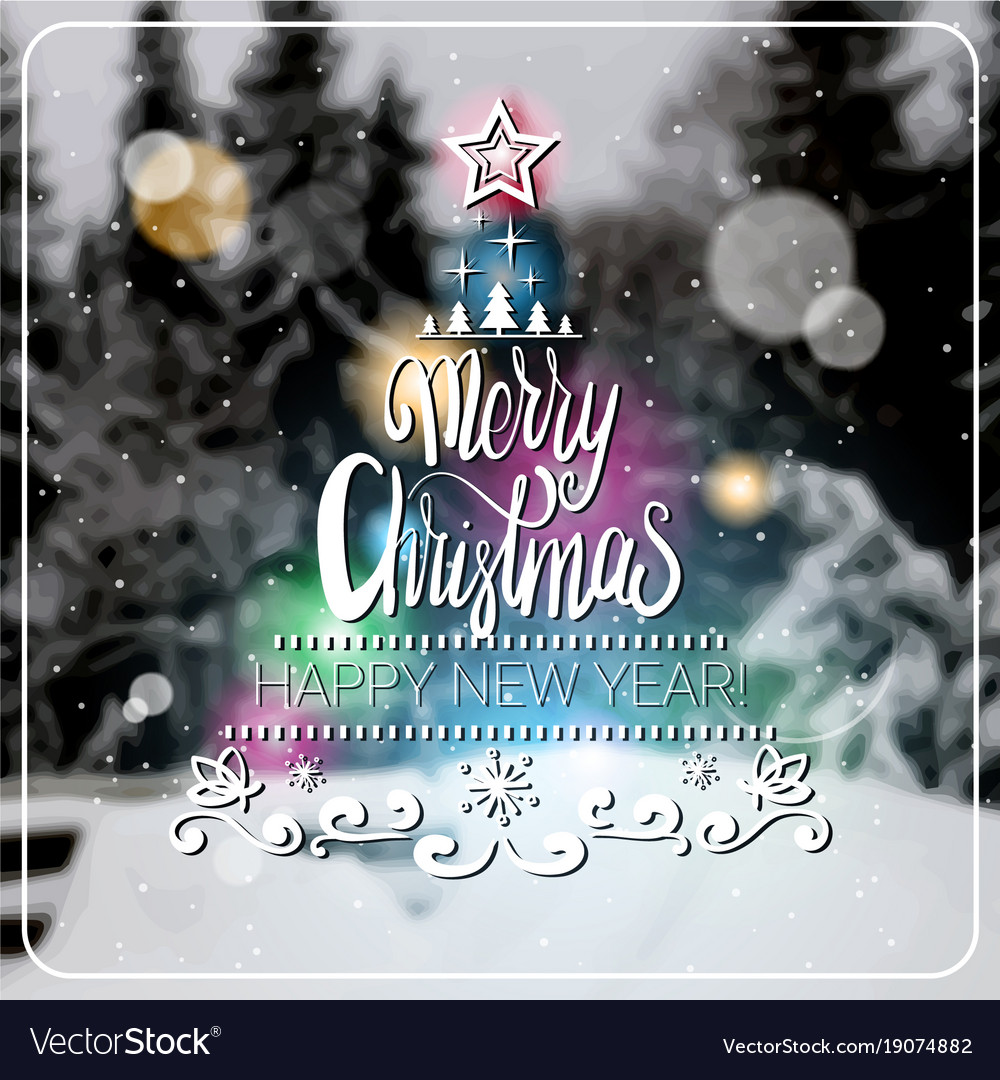Merry Christmas Poster 2018.Creative Merry Christmas And New Year 2018 Poster