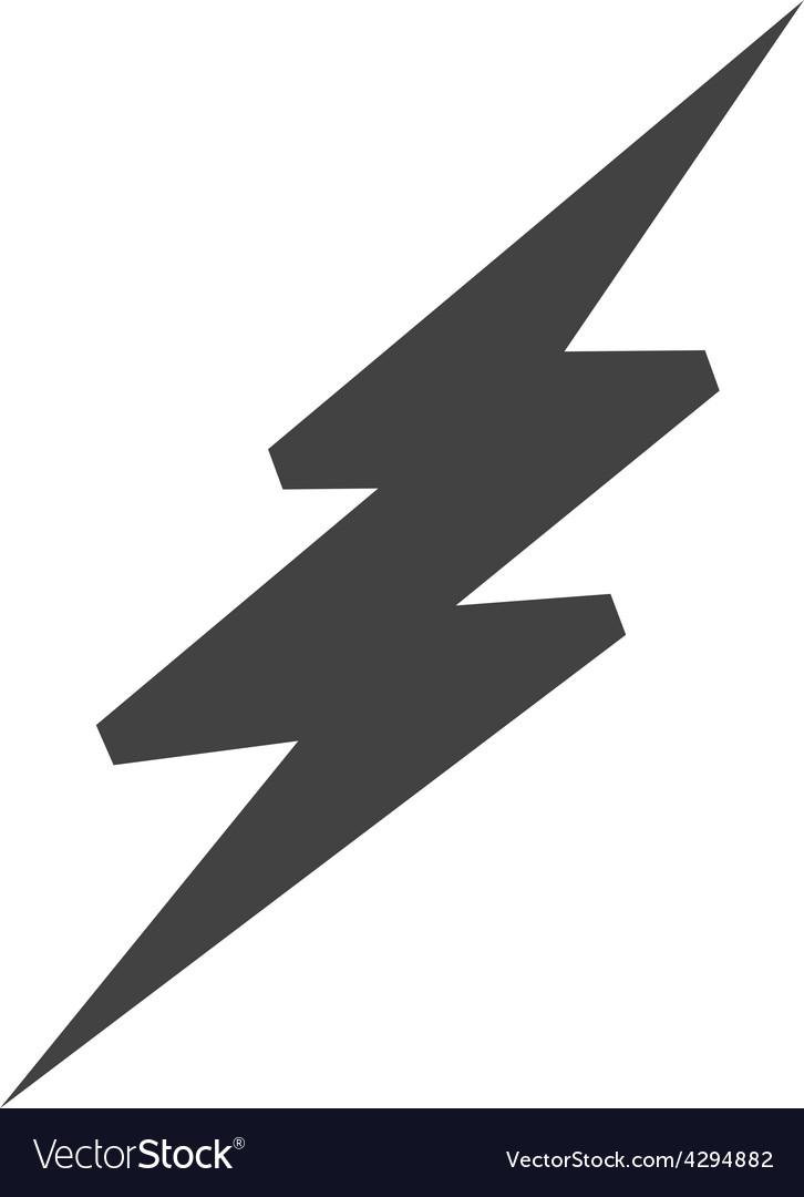 lightning bolt royalty free vector image vectorstock rh vectorstock com lighting bolt vector lighting bolt vector free