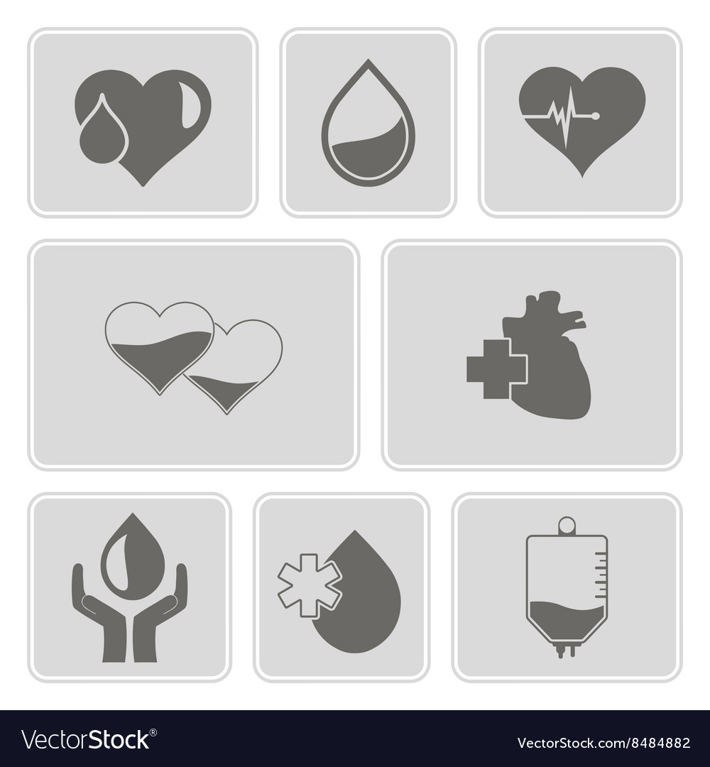 Monochrome set with Charity and donation icons