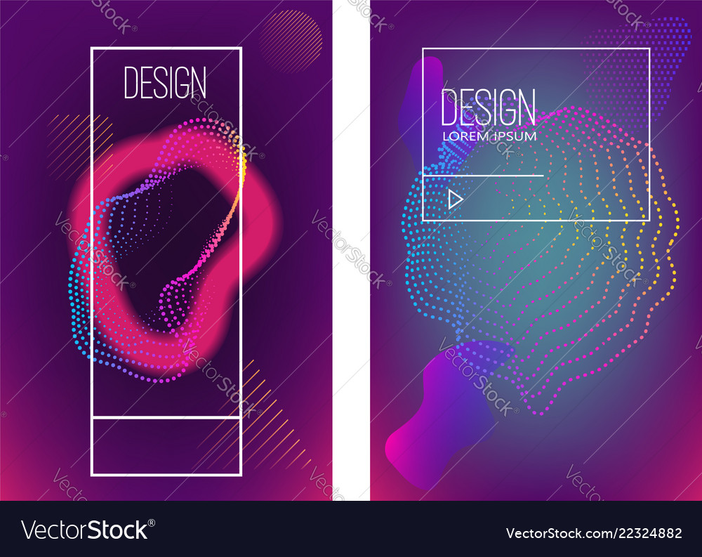 Set of banner design templates with abstract