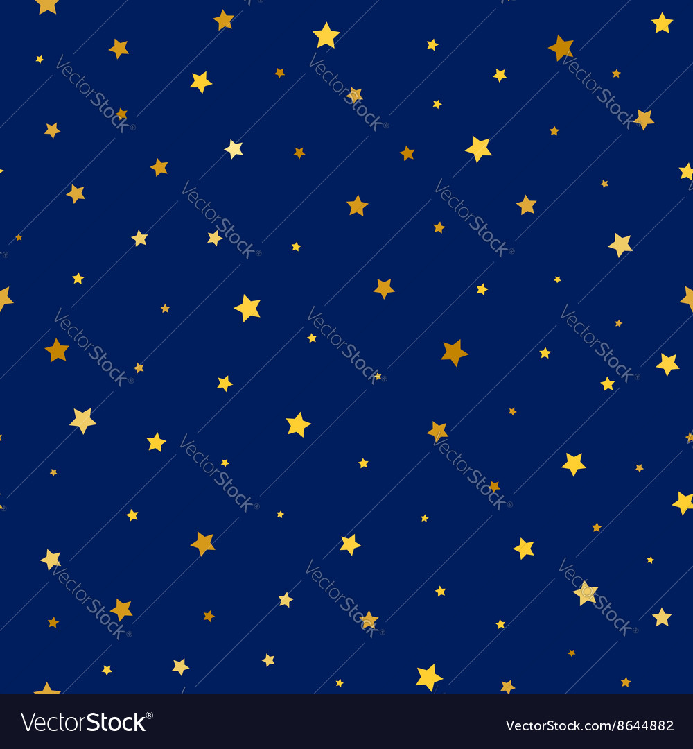Stars golden seamless pattern vector image