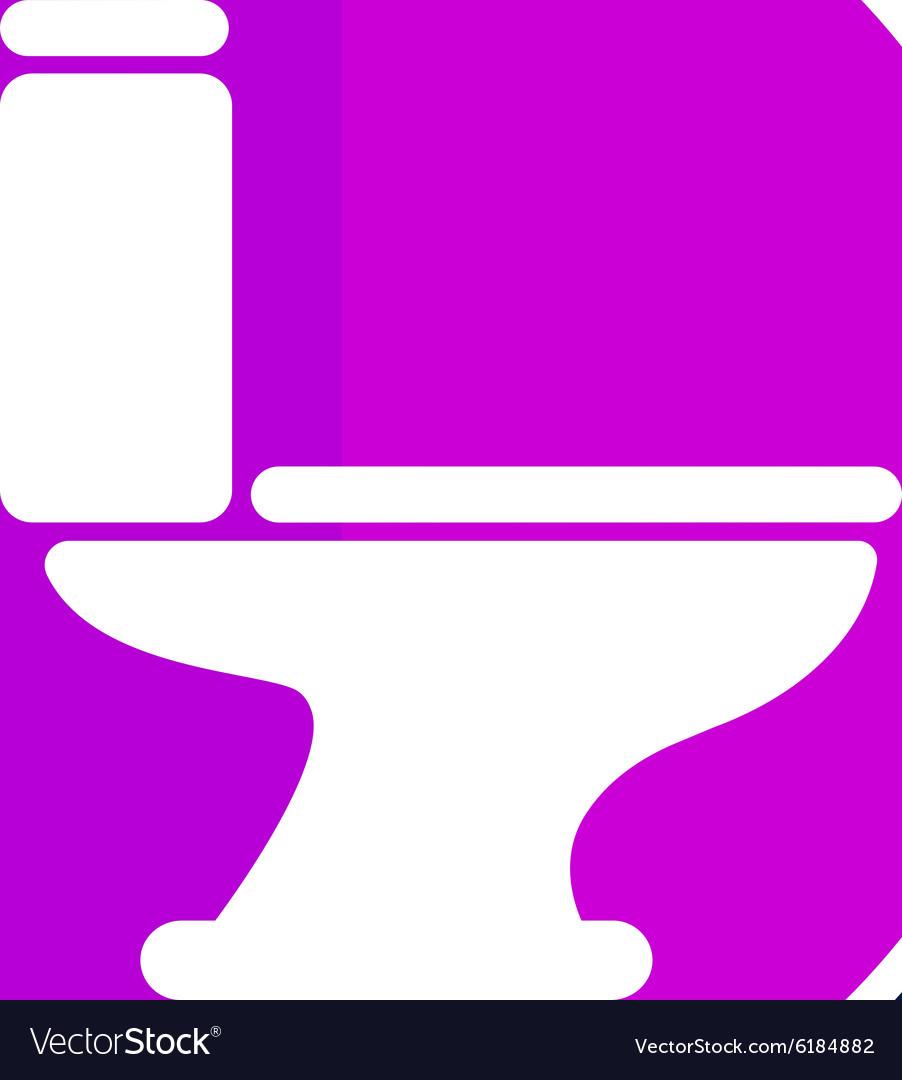 Toilet icon button logo symbol concept Royalty Free Vector
