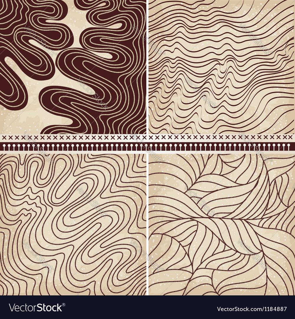 4 patterns set vector image