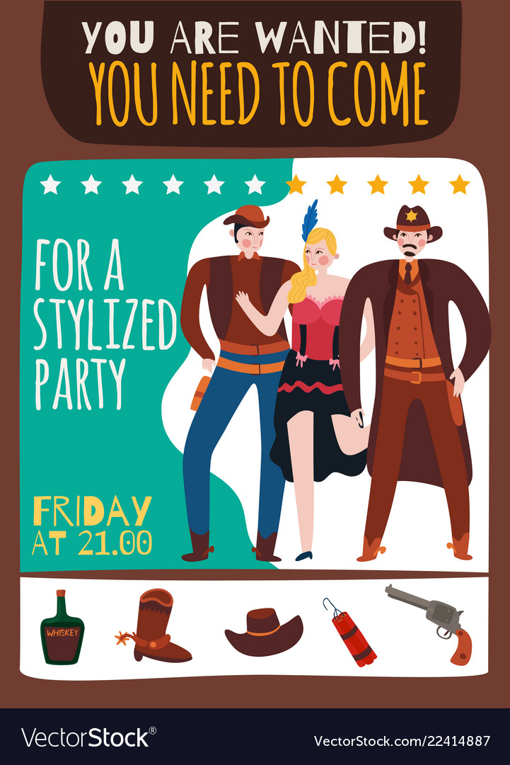 American west party poster