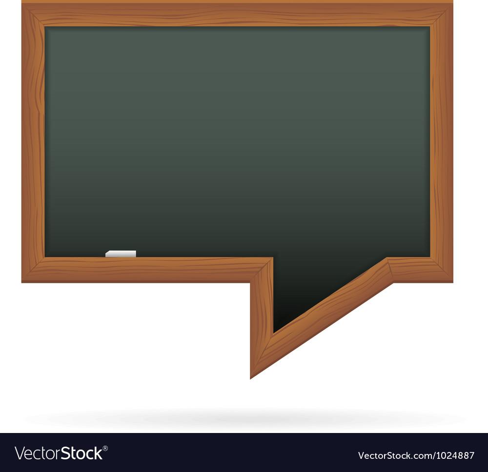 Blackboard in the shape of speech bubble
