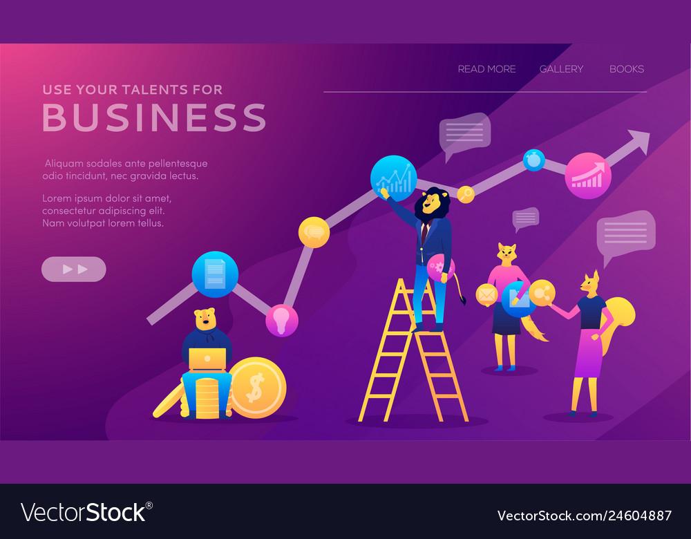 career planning businessman draws graph growth vector image  vectorstock