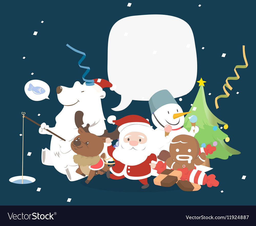 Christmas character with speech bubble