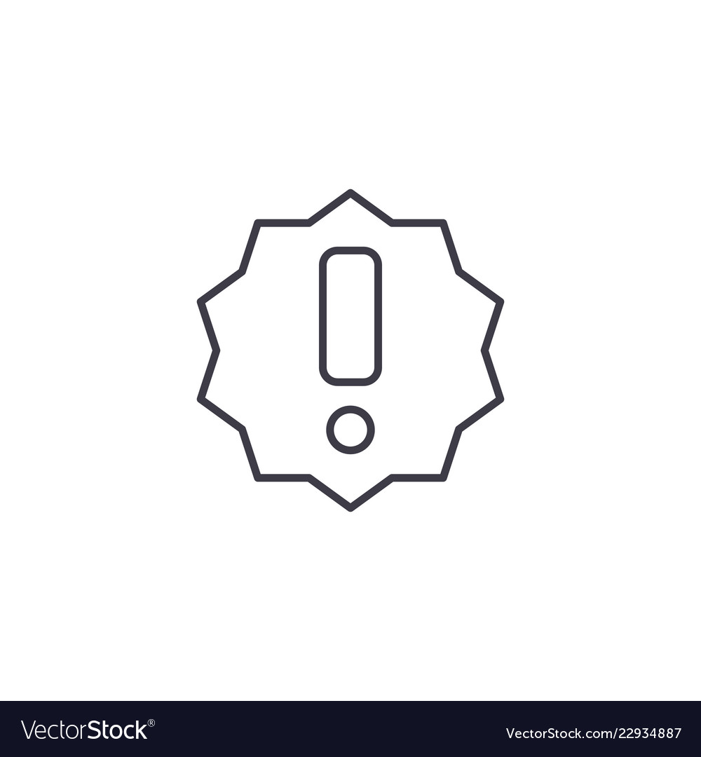 Exclamation line icon concept exclamation