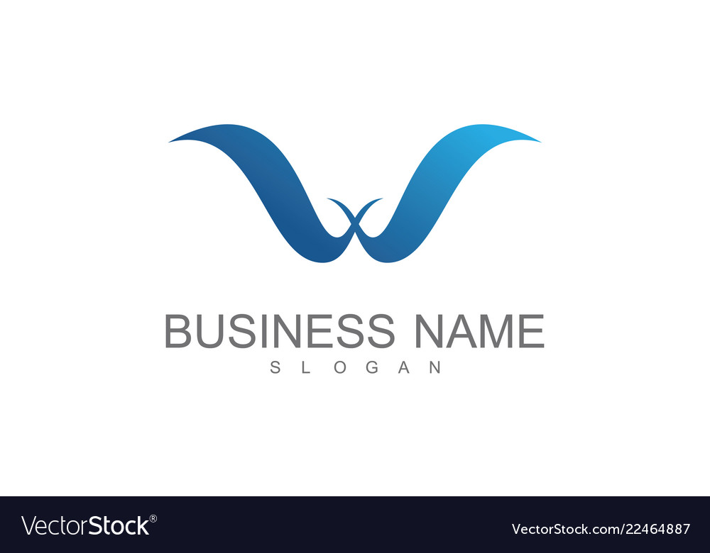 Letter w wing business logo