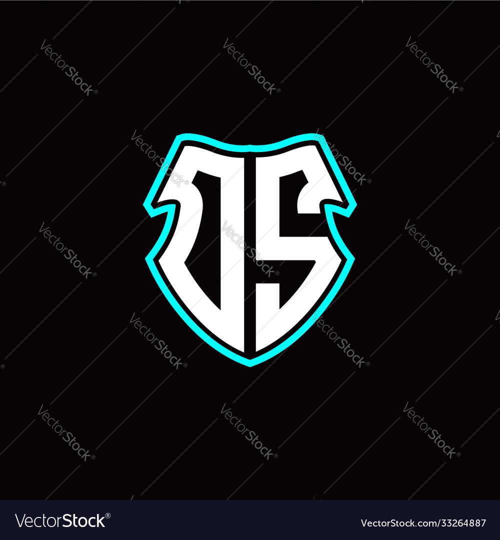 Os initial logo design with a shield shape