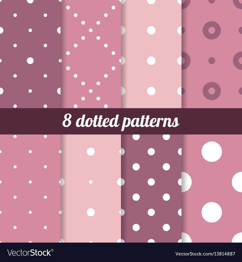 Polka backgrounds collection